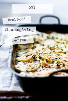 20 Real Food Thanksgiving recipes