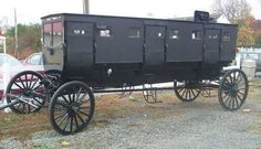 Amish limousine. They will hire 'Englishmen' to drive them in vans when needed for long distances.
