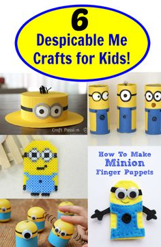 "Are you and your kids a fan of the Despicable Me Minions? Well this is for you! Learn how to create these adorable Minion crafts.See the step-by-step making of this detailed minion from the popular ""Despicable Me""."