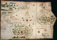 Mapa del océano Atlántico, 1613 — Visor — Biblioteca Digital Mundial