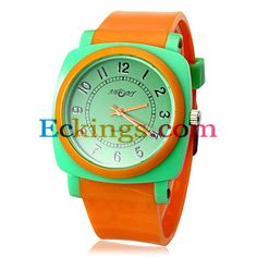 Unisex Color Matching Dial Rubber Band Quartz Analog Wrist Watch (Assorted Colors) : Online Shopping for Watches, Toys & more