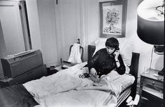 February 9, 1964, the Beatles made their debut on the Ed Sullivan show. But unfortunately George was sick in bed a large part of the visit. He was bedridden until right before going on. Looking at the appearance George definitely rallied back despite having not felt well.