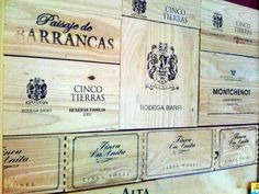 Vintage wine crate panel wall.  Please visit: www.thewonderfulwoodcompany.com, TWWCUK@gmail.com | Global Shipping