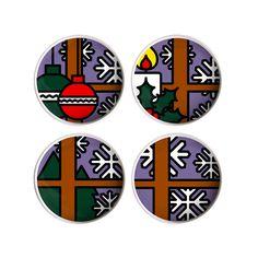 #interiordesign Per Natale, per la tua casa o per quella dei tuoi cari :) http://www.lovethesign.com/prodotti/tavola-e-cucina/piatti/pit-pop-disegni-superficie/set-4-piatti-merry-xmas-diam-25cm