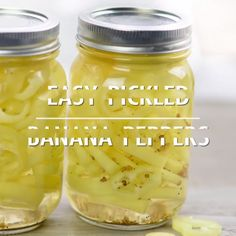 Pickled Banana Peppers The Adventure Bite is part of Stuffed banana peppers - This is the BEST easy pickled banana peppers recipe! Sweet, salty and vinegary and only 5 ingredients so it's super easy! Recipes With Banana Peppers, Sweet Banana Peppers, Pickled Banana Peppers, Canning Banana Peppers, Stuffed Banana Peppers, Banana Recipes, Pickling Peppers, How To Pickle Peppers, Pickled Sweet Peppers