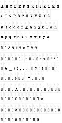Mom's typewriter free font