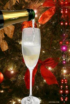 Happy New Year animated champagne gif graphic happy new year happy new year quote happy new year greeting Happy New Year Gif, Happy New Year Images, Merry Christmas And Happy New Year, Christmas Time, New Year Wishes, New Year Greetings, Christmas Greetings, Beautiful Christmas Cards, Christmas Images