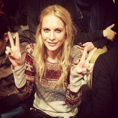 Reunion with Poppy Delevingne at Richard Chai.