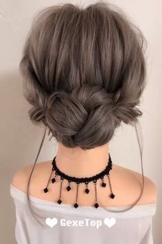 Frisuren White Gold Wedding Rings Wedding is the most important moment in everyones life. Bun Hairstyles For Long Hair, Work Hairstyles, Braided Hairstyles, Kawaii Hairstyles, Updo Hairstyle, Braided Updo, Hair Up Styles, Medium Hair Styles, Long Hair Video