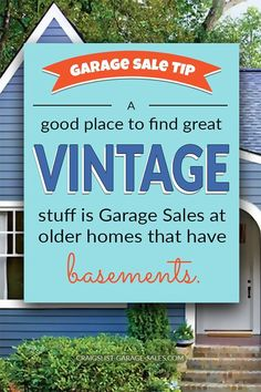 GARAGE SALE TIP: How to cut out the middleman and find awesome deals on authentic vintage Garage Sale Tips, Diy Garage, Sell Used Furniture, Repurposed Furniture, Sunburst Clock, Storage Auctions, Ladder Back Chairs, The 'burbs, Local Thrift Stores