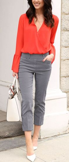 29 classy and elegant summer outfits business attire pintere Outfit Stile, Outfit Chic, Chic Outfits, Fashion Outfits, Fashion Ideas, Fashion Clothes, Capri Outfits, Dress Fashion, Classy Outfits