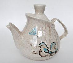 redwing teapots | Red Wing Pottery Teapot Bob White Patttern by ... | American Art Pott ...