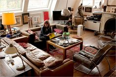 A Viennese Attic Apartment: I NEED this kind of light through those kind of windows.