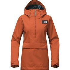 The North Face Tanager Anorak Jacket is a versatile shell for storm skiing, park laps, and above-the-chair hikes. A stylish but functional piece, the Tanager Anorak features a DryVent shell—a waterproof and breathable fabric with fully taped seams that repels snow and rain. Add another layer underneath and pull up the helmet-compatible hood for chilly winter days in the mountains, or rock it as a raincoat around town. #RaincoatsForWomenWinter #RaincoatsForWomenTheNorthFace