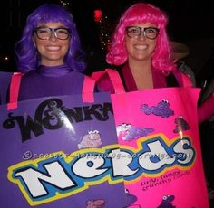 Coolest Nerds Candy Couple Costume - This website HAS awesome HOMEMADE Halloween costume ideas! by Kristina93
