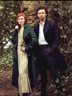 Eleanor Tomlinson and Aidan Turner Poldark 2015, Poldark Series, Demelza Poldark, Ross Poldark, Bbc Poldark, English Actresses, Actors & Actresses, Ross And Demelza, Aidan Turner Poldark