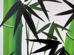 | Bamboo Painting, Chinese Bamboo Painting, Feng Shui Painting