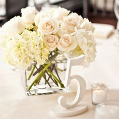 Painted Wedding Table Numbers <3 Beautiful Southern Cottage Chic Feel! This store has so many cute things.