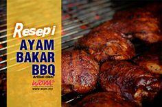 Jadikan menu Ayam Bakar BBQ ini sebagai menu favourite anda sekeluarga. Apatah lagi, anda yang membuatnya sendiri, pasti enak! Dapatkan resepinya di www.wom.my
