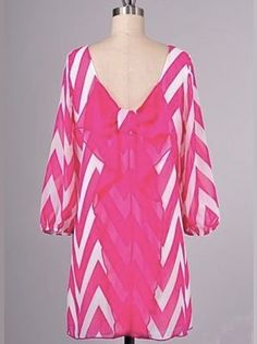 Neon Pink Bow Chevron Dress - $46.99 : FashionCupcake, Designer Clothing, Accessories, and Gifts