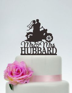 Mr And Mrs Wedding Cake Topper With Last by SpecialDesignForYou