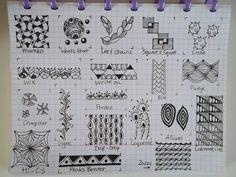 TANGLE PATTERNS PAGE 1 OF 19- #doodles #zendoodle # doodle-----Tekenpraktijk De Innerlijke Wereld: Tangle-patronen