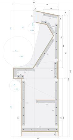 Plans de coupe et d'assemblage - Construction Borne d'Arcade Metal Slug