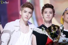 Images For > Chanyeol And Kris Gif