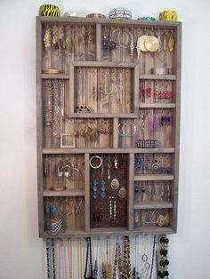 Loads of tips for how to organize, decorate and add style to a small bedroom. A shadow box jewelry organizer not only stores your jewelry, but serves as a piece of art too.
