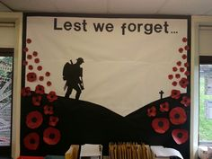 Remembrance day classroom display                                                                                                                                                                                 More Remembrance Day Posters, Remembrance Day Activities, Veterans Day Activities, Kids Learning Activities, Remembrance Poppy, Remembrance Sunday, School Library Displays, Classroom Displays, Classroom Ideas