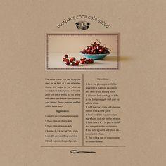 """Mother's Coca Cola Salad"" recipe scrapbook page / layout Heritage Scrapbook Pages, Scrapbook Page Layouts, Scrapbook Paper, Layout Design, Cola Recipe, Recipe For Mom, Diy Recipe, Recipe Folder, Cookbook Design"