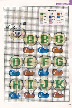 Thrilling Designing Your Own Cross Stitch Embroidery Patterns Ideas. Exhilarating Designing Your Own Cross Stitch Embroidery Patterns Ideas. Cross Stitch Numbers, Cross Stitch Letters, Cross Stitch Baby, Diy Embroidery For Beginners, Embroidery Techniques, Cross Stitching, Cross Stitch Embroidery, Embroidery Hoop Nursery, Modele Pixel
