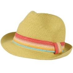 Child Kids Ages 2+ Child Summer Sun Fedora Trilby Crusher Hat Cap Natural  53cm for 67110f32373d