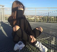 Imagem de girl, black, and adidas