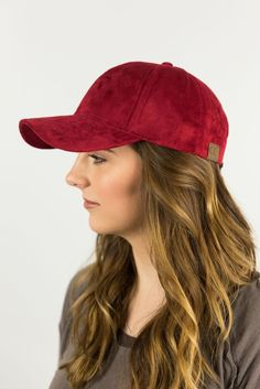 5e00952562348e CC Everyday Faux Suede 6 Panel Solid Suede Baseball Adjustable Cap ...