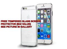 Apple Iphone 6 / 6S CLEAR Ultra Thin  Crystal Rubber TPU Soft Case Cover  #UnbrandedGeneric