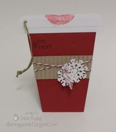Close up of Christmas Coffee Cup Tag by LorriHeiling - Cards and Paper Crafts at Splitcoaststampers
