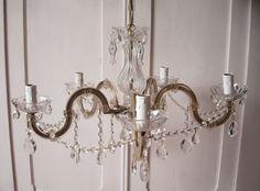Vintage Kronleuchter - alter Kronleuchter, Kristall, M. Theresia, shabby - ein…