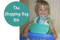 Shopping Bag Bib Tutorial - Peek-a-Boo Pattern Shop. #PeekabooPages