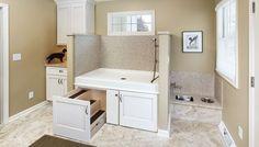 dog washing station for home kitchen-remodel-dog-mud-room-washing-station-foyer-home-improvement . Renovation Design, Home Renovation, Dog Washing Station, Dog Station, Animal Room, Dog Rooms, Rooms For Dogs, Dog Shower, Shower Base