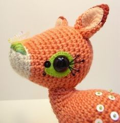 Cute deer/ fawn crochet pattern. Also has dachshund in her gourmet amigurumi book on Amazon