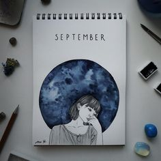 Likes, 26 Comments - Ana Ye Hello September Quotes, Hallo September, Welcome September, September Art, September Pictures, September Wallpaper, Sky Design, Monthly Themes, Sketch A Day