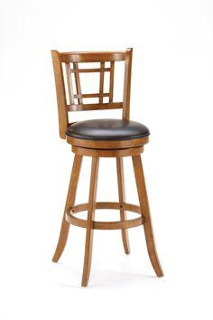 Fairfox stool by Hillsdale, oak and vinyl