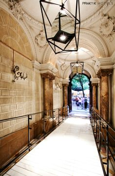 Praktik Rambla is a boutique hotel that unites tradition and avantgarde with excellent design, chic comfort, autochthonous architecture. Beautiful Streets, Beautiful Buildings, Barcelona Spain, Architecture Art, Mansions, Studio, Gallery, Pictures, Building Ideas