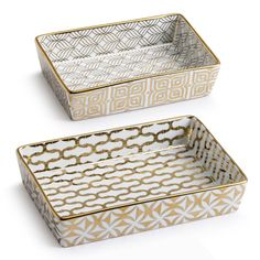 La Cite Gold Nesting Catchall Trays - Set of Two