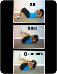 30 Day Ab Challenge - Knee Crunch