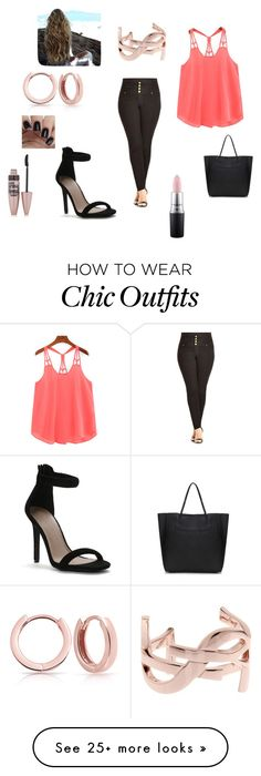 """""""A night on the town."""" by alligater24 on Polyvore featuring City Chic, Bling Jewelry, Yves Saint Laurent, Maybelline and MAC Cosmetics"""