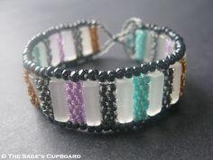 Jewel Tone Bar Bracelet by The Sage's Cupboard