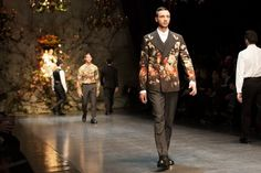 Dolce and Gabbana Fall/Winter13 - Florals for men