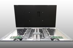 """A view of the back of an 84"""" panel - this is what would be inside an 84"""" display. 30 Sep 2014"""